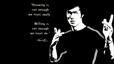 Athah Bruce Lee Knowing & Willing Poster Paper Print Paper Print