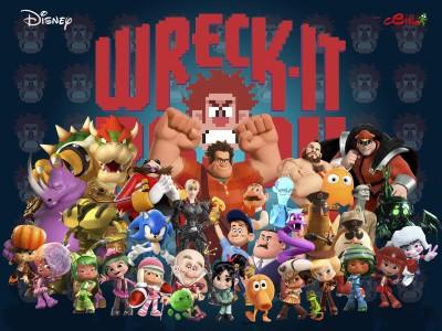 Movie Wreck-It Ralph Wreck-it Ralph Ralph Sergeant Calhoun Fix-it Felix Vanellope Von Schweetz Schweetz Sour Bill Cy-bug Tapper Gene Wynnchel Duncan Logo HD Wall Poster Paper Print