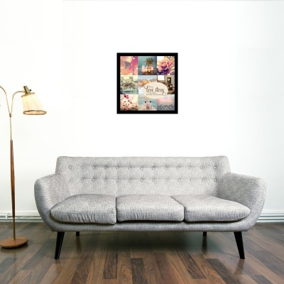 Love Story Framed Wall art With glass Photographic Paper