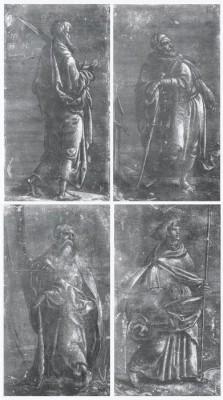 The Apostle Simon, The Apostle James the Great, The Apostle Philip, The Apostle James the Less. 1518 (Medium) Paper Print