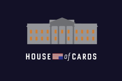 House of Cards - Minimalist White House Paper Print