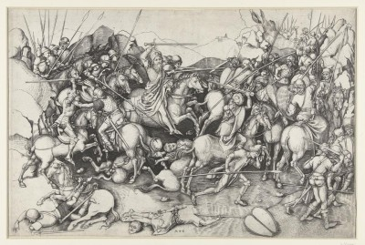 The Museum Outlet Saint James the Greater (James Major) at the battle of Clavijo. 1450 - 1491 (Medium) Canvas Painting