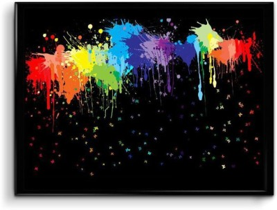 The one who admires Color Splashes Paper Print