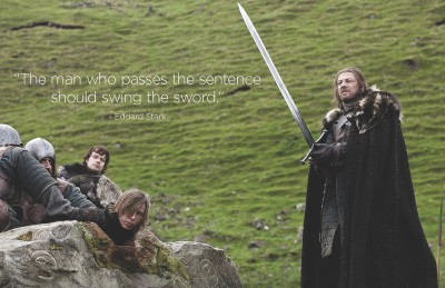 Colormart Eddard Stark Quote Photographic Paper