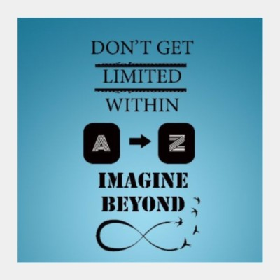 Athah Poster IMAGINE BEYOND INFINITY Square Art Artist: Sarbani Mookherjee Paper Rolled Paper Print