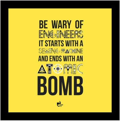 Athah Be wary of engineers - Poster Photographic Paper Paper Print