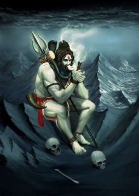 Athah Religious Poster sk Shiva Chillum Paper Print