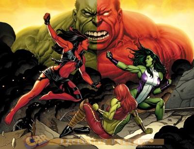 Red She-hulk She-Hulk Hulk Frameless Fine Quality Poster Paper Print