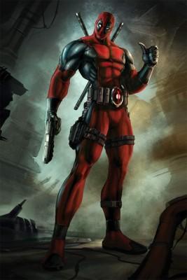 Athah Poster Comic Villain Deadpool Paper Print