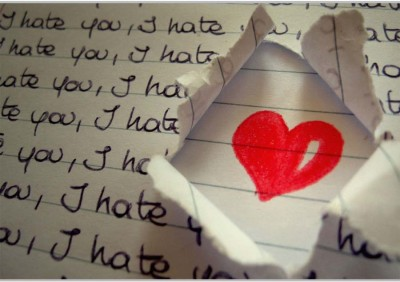 Hate You Poster (18 x 12 Inches) by Shopkeeda Paper Print