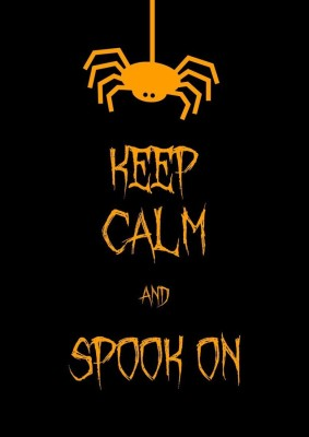 Athah Poster Keep Calm And Spook On! NON TEARABLE Paper Print Rolled In Cardboard Tube Paper Print