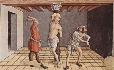 The Museum Outlet Altartafel aus San Silvestro in Massa Fermana, Detail - 7 (Medium) Canvas Painting