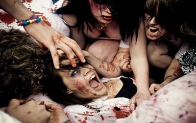 Movie Zombie! Vs. Mardi Gras HD Wall Poster Paper Print
