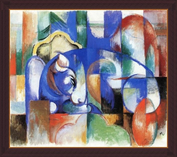 Bull By Franz Marc - ArtsNyou Printed Paintings Canvas Art