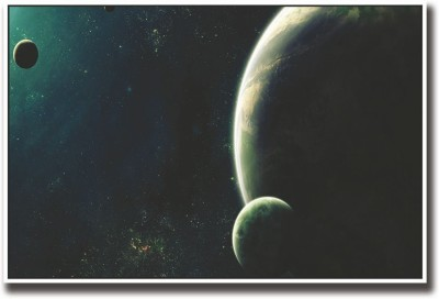 Athah Poster Planets and Moons Fine Art Print Rolled Paper Print