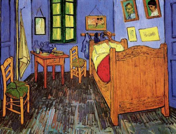 Vincent's Bedroom in Arles Small by Van Gogh Fine Art Print