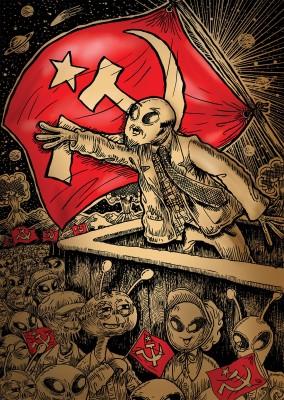The Comrade Alien Paper Print