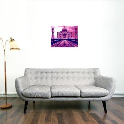 Taj Canvas (Pink) Canvas Art