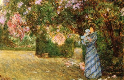 The Museum Outlet Mrs. Hassam at Villiers-le-Bel, 1888 (Medium) Canvas Painting