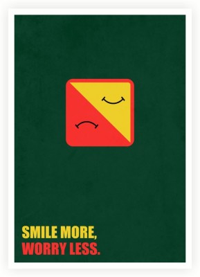 Smile More, Worry Less Business Quotes Paper Print