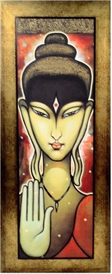 Lord Buddha blessing the world mounted on a fibre frame Fine Art Print