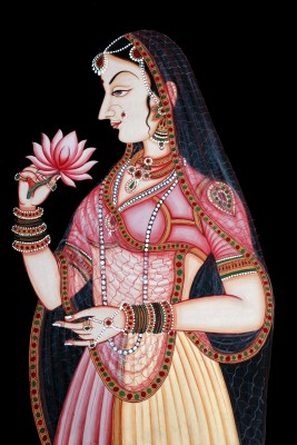 Oshi - Lady with Rose Fine Art Paper Print