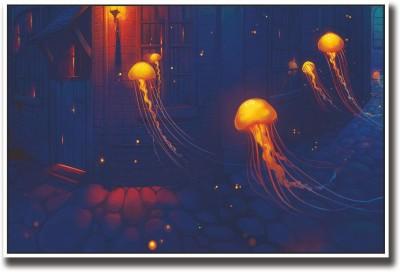 Athah Poster Jellyfish artwork Paper Print