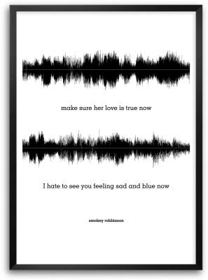 Smokey Robbinson Lyrics Quotes Paper Print