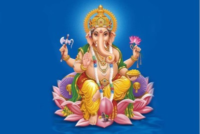 Divine Ganesh Blessings Paper Print