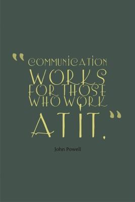 Communication Works Premium Poster Paper Print