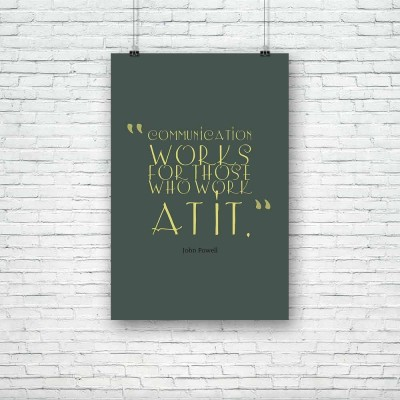 Artzfolio Communication Works Premium Poster Paper Print