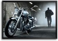 RangeeleInkers Harley davidson Biker Laminated Frame Poster Paper Print