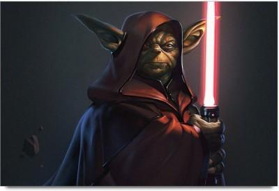 Master Yoda ready Fight Paper Print