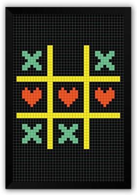 Athah Poster Tic Tac Toe Piel Art Quirky A Paper Print Paper Print