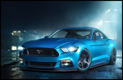 Ford Mustang GT Car Poster Paper Print