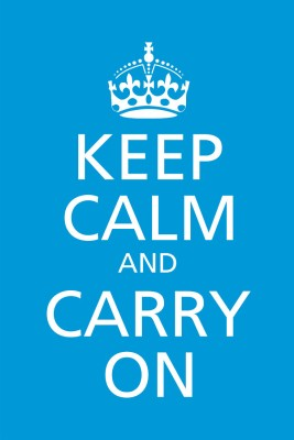 Keep Calm and Carry On Paper Print(18 inch X 12 inch, Rolled)
