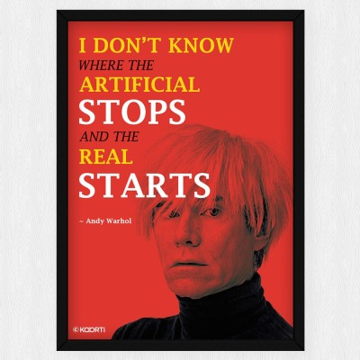 KAARTI I Don't Know Where The Artificial Stops - Andy Warhol (Medium) Glass Framed Paper Print
