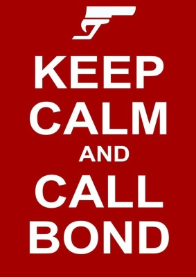 Athah Poster Keep Calm And Call Bond NON TEARABLE Paper Print Rolled In Cardboard Tube Paper Print