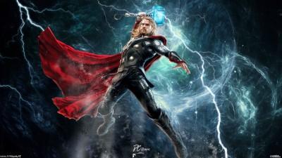 Movie Avengers: Age Of Ultron The Avengers Thor Chris Hemsworth Avengers Fan Art Digital Art HD Wall Poster Paper Print