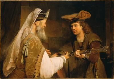 Framed Ahimelech Giving the Sword of Goliath to David by Aert de Gelder Dutch Fine Art Print