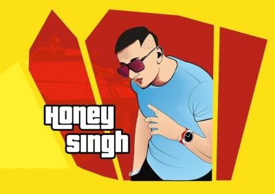 Athah Frameless Poster Yo Yo Honey Singh Paper Print