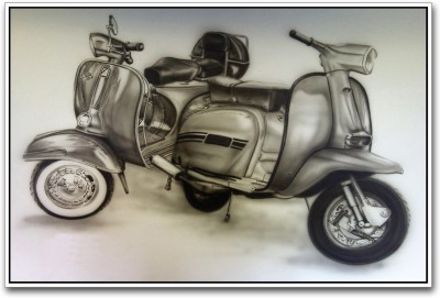 Vintage Scooters Photographic Paper