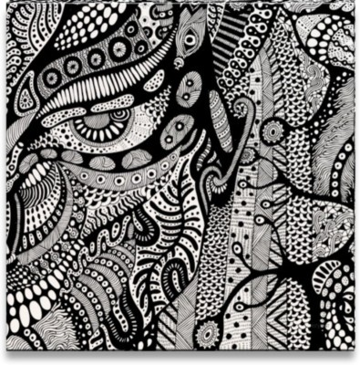 Athah Poster Aro's Psychedelic Alien Paper Print