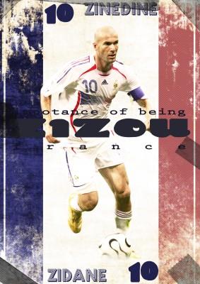 Zidane France Poster Paper Print