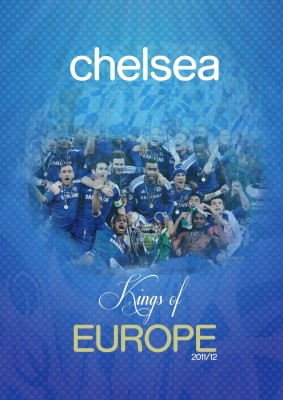 Athah Poster Chelsea Kings of Europe Paper Print