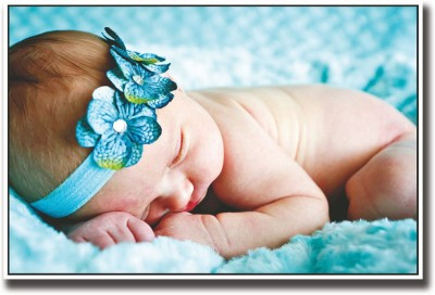 Baby with Blue hair band Fine Art Print