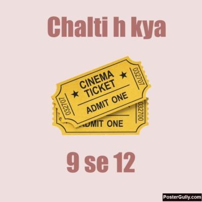 Athah Poster Chalti Hai Kya work Akshay Rathee Paper Print