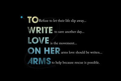 To Write Love On Her Arms Paper Print