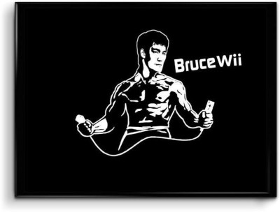 Bruce Playing Nintendo Wii Paper Print