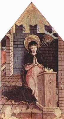 The Museum Outlet Altartafel aus San Silvestro in Massa Fermana, Detail - 3 (Medium) Canvas Painting